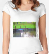 Rowboat in Autumn Women's Fitted Scoop T-Shirt
