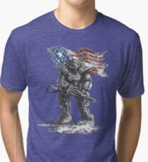 Fallout power armour suit Tri-blend T-Shirt