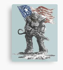 Fallout power armour suit Metal Print