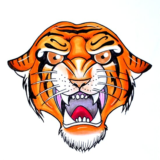Old School Tiger Posters By Joana Leal Redbubble