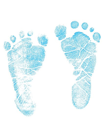 Quot Blue Baby Footprints Adorable Baby Feet Perfect For New
