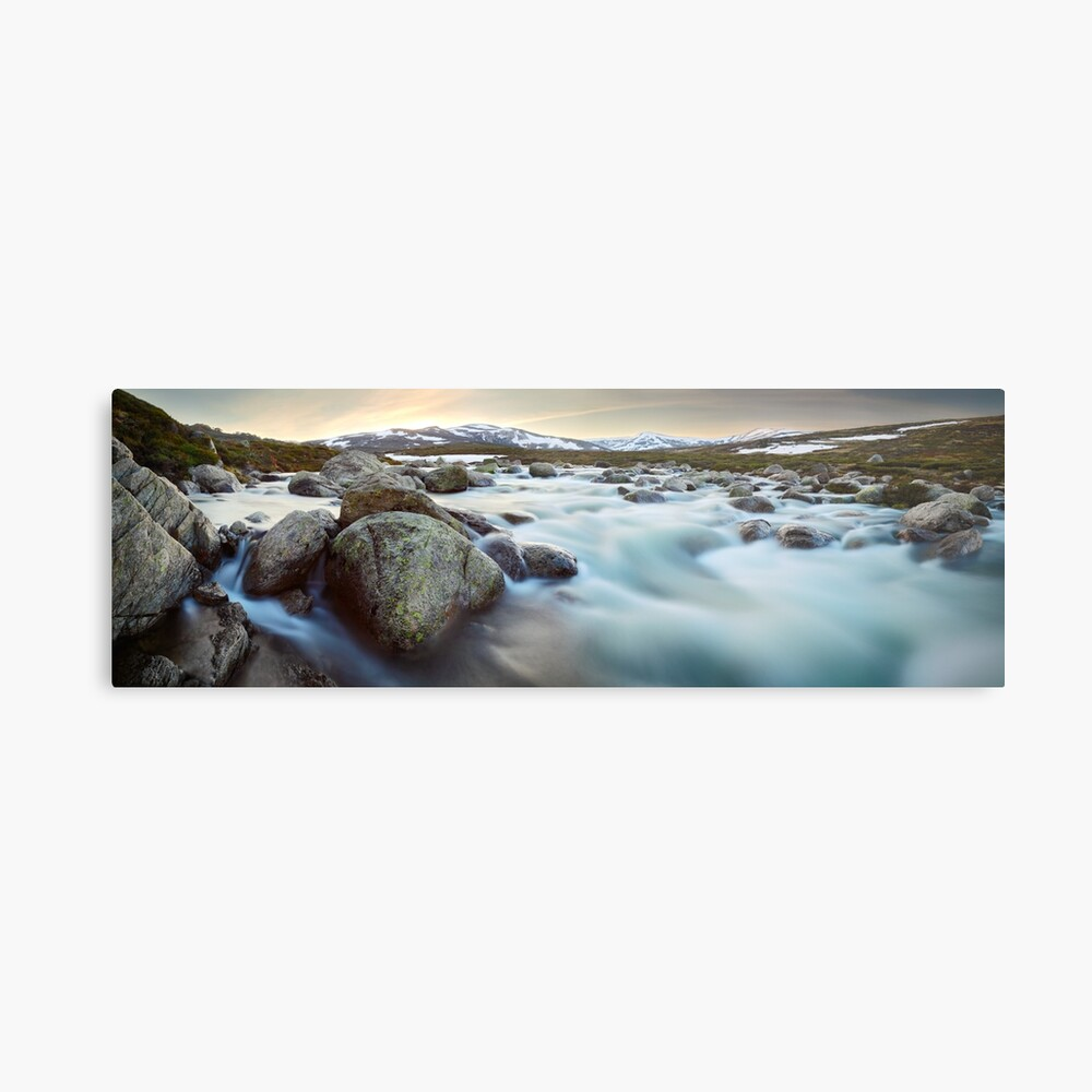 Snowy River Sunset, Mt Kosciuszko, New South Wales, Australia Metal Print