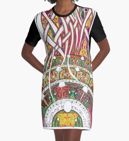 Merrily on High Graphic T-Shirt Dress