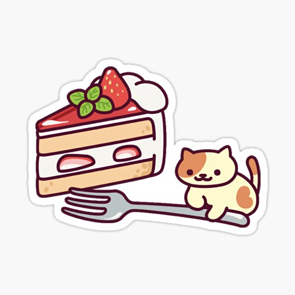 peaches with cake!! Sticker