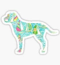 Sailboat Dog Sticker