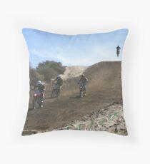 Motocross - Racing - Vet X Racing Series, Cahuilla, CA Throw Pillow