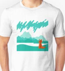Wilderness, Fox and Northern Lights T-Shirt