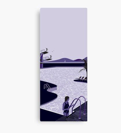 Poolside Blues Canvas Print