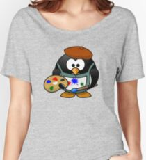 Painter Penguin Women's Relaxed Fit T-Shirt