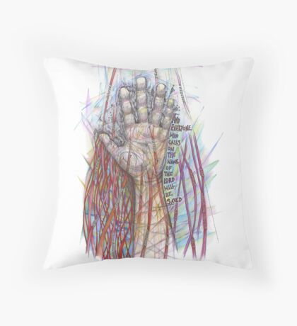 The Name of the Lord (All who Call) Throw Pillow