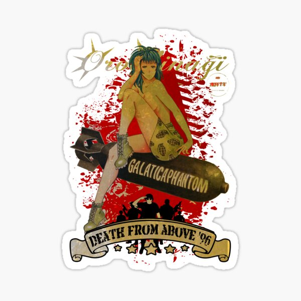 Anime Pinup Army Girl 2017 Sticker