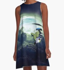 Flying Totoro A-Line Dress