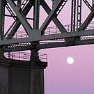 full moon rising by Bruce  Dickson