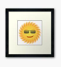Cool Sun Framed Print
