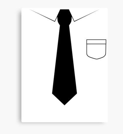 Black tie Canvas Print