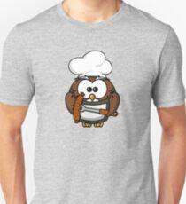 Cute Cook Owl Unisex T-Shirt