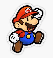 Pegatina transparente Super Paper Mario Jumping