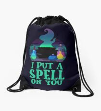 I put a spell on you Drawstring Bag