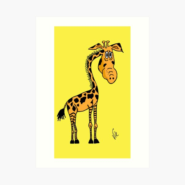 Gerry the Giraffe Art Print