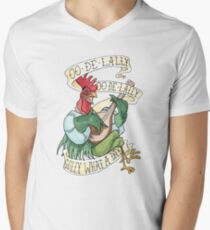 Alan-A-Dale Rooster : OO-De-Lally Golly What A Day Tattoo Watercolor Painting T-Shirt