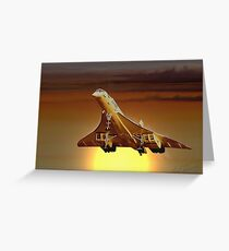 Concorde Sunset Greeting Card