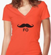 mofo Women's Fitted V-Neck T-Shirt
