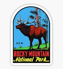 Rocky Mountain National Park Vintage Travel Decal Sticker