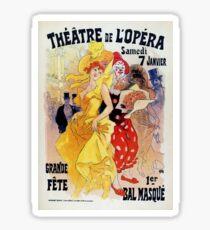 Vintage masquerade carnaval ball Paris Opera Chéret Sticker