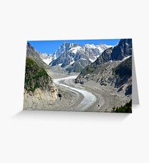 Mer de Glace glacier, France Greeting Card