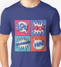 Comic Bubble in Pop Art Style with Expressions Boom Unisex T-Shirt