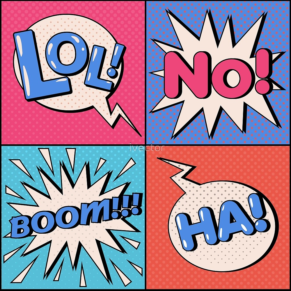 Comic Bubble in Pop Art Style with Expressions Boom by ivector