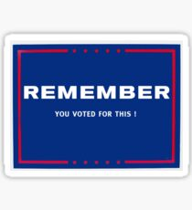 Remember....You Voted For This Sticker