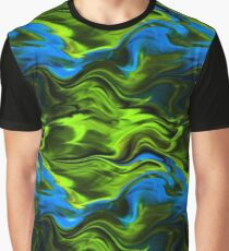 Blue and Green Northern Lights Graphic T-Shirt