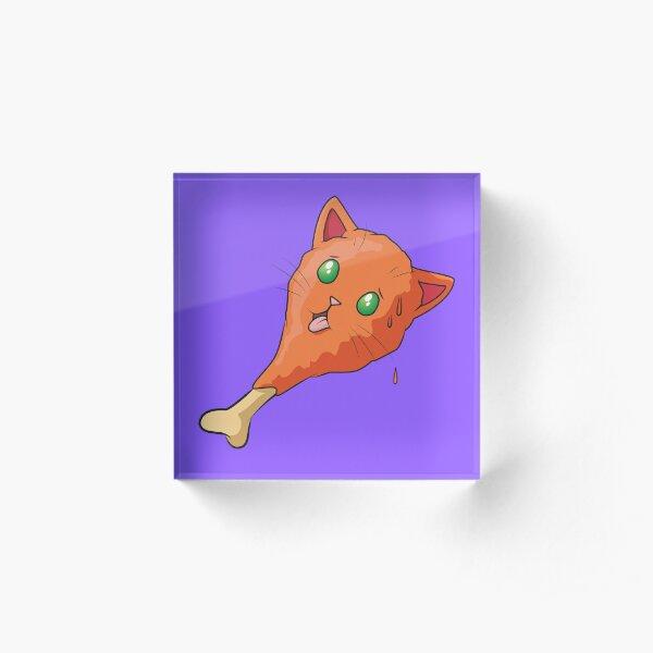 Hot Wing Cat Acrylic Block