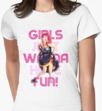 Cyndi Lauper - Girls Just Wanna Have Fun Womens Fitted T-Shirt