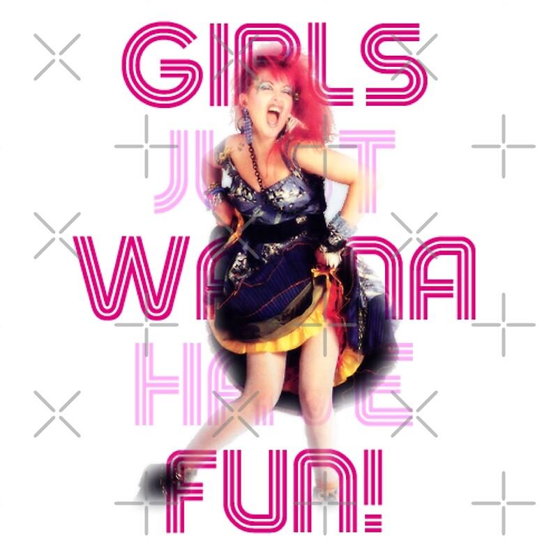 """Cyndi Lauper - Girls Just Wanna Have Fun"" Greeting Cards ..."