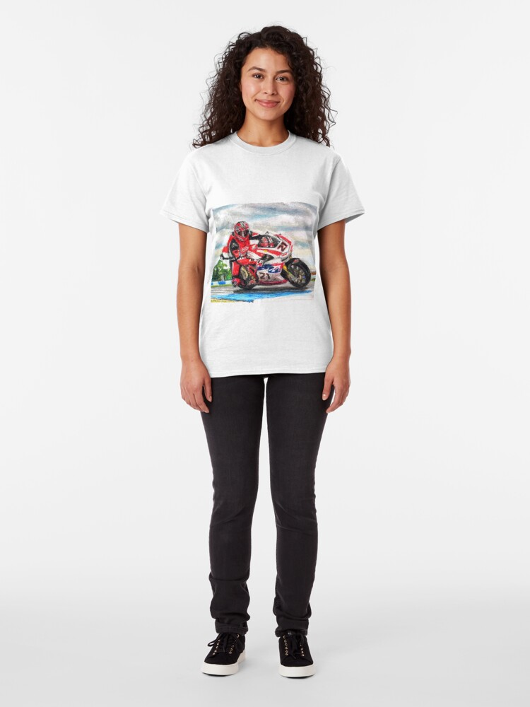 Alternate view of Ducati 1098R Troy Bayliss on Craner Curve Classic T-Shirt