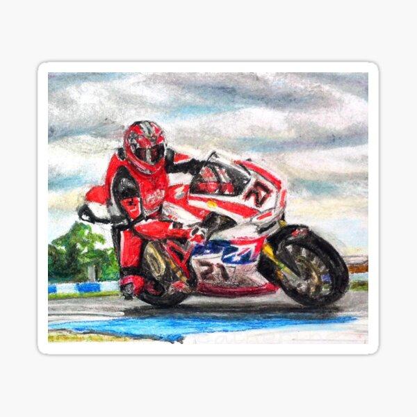 Ducati 1098R Troy Bayliss on Craner Curve Sticker