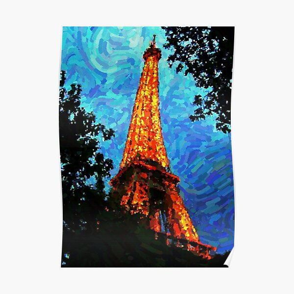 Eiffel Tower Impressionist Painting Poster