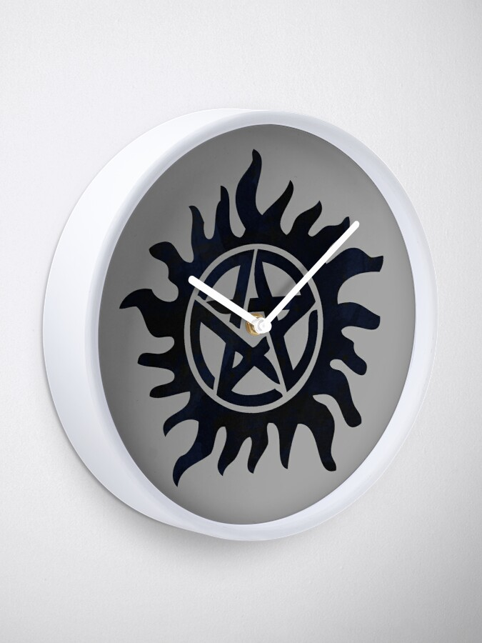 Alternate view of Supernatural tattoo Clock