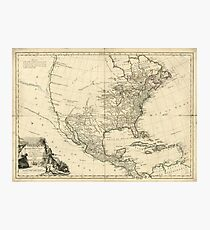 Old Map of North America (1783) Photographic Print