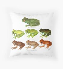 Andean treefrogs Throw Pillow