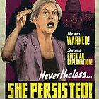 She Persisted - Elizabeth Warren Vintage Movie Poster by PosterProject