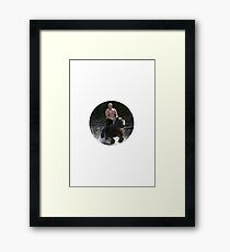 Putin riding bear Framed Print