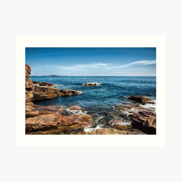 Craggy Coast Art Print