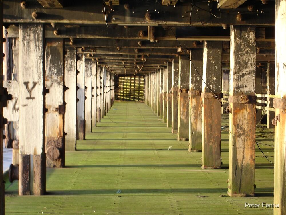 Under the pier by Peter Fenna