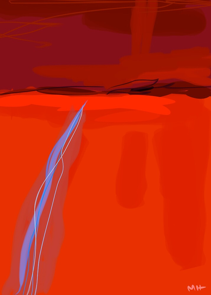 Red Landscape by Martin Howard