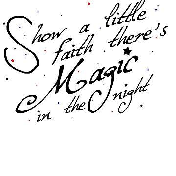 Magic in the night - black text by nightjoy