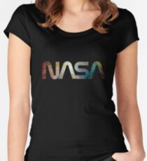 NASA Women's Fitted Scoop T-Shirt