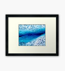 Ice Canyon Framed Print